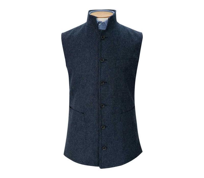 Tweed Gilet, 2018 - Indigo Herringbone