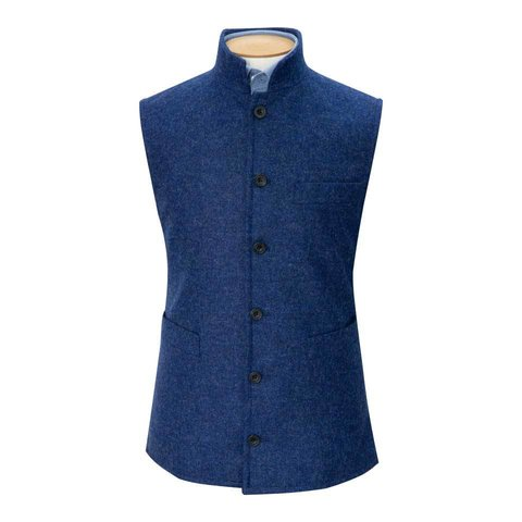 Tweed Gilet, 2018 - Denim Blue