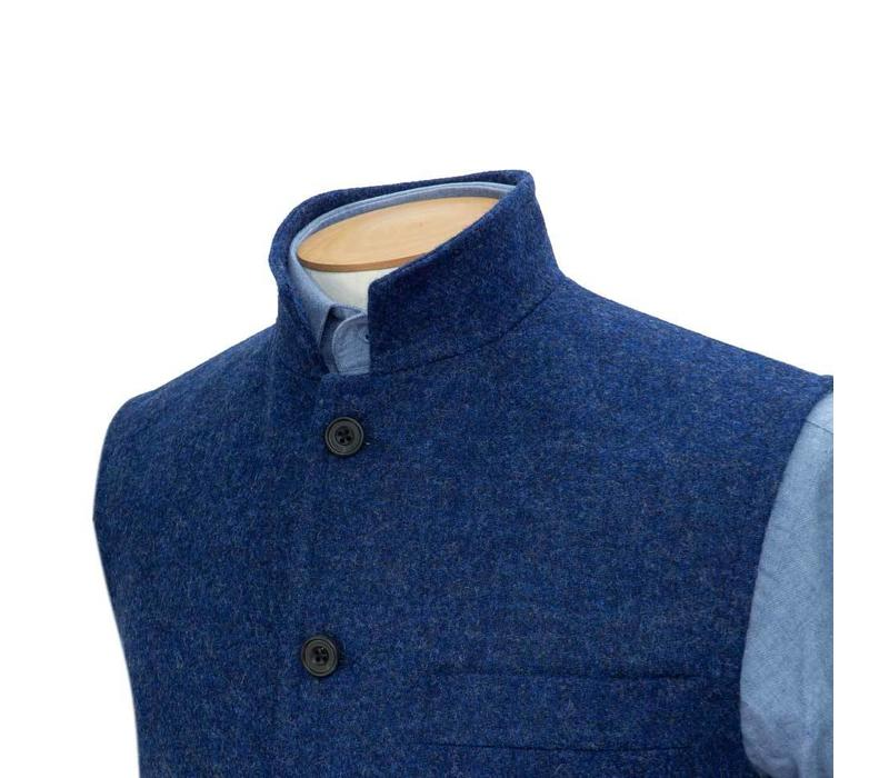 Tweed Gilet, 2018 - Denim Blue