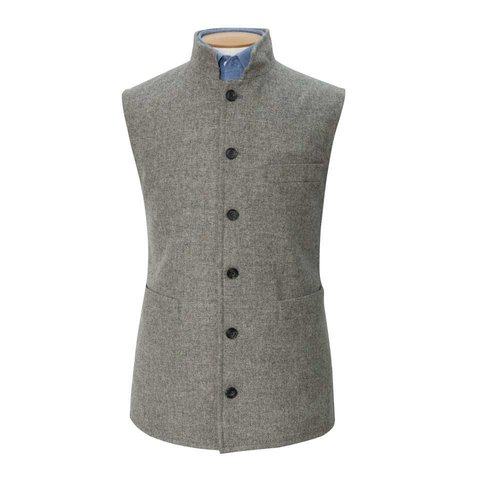 Tweed Gilet, 2018 - Grey
