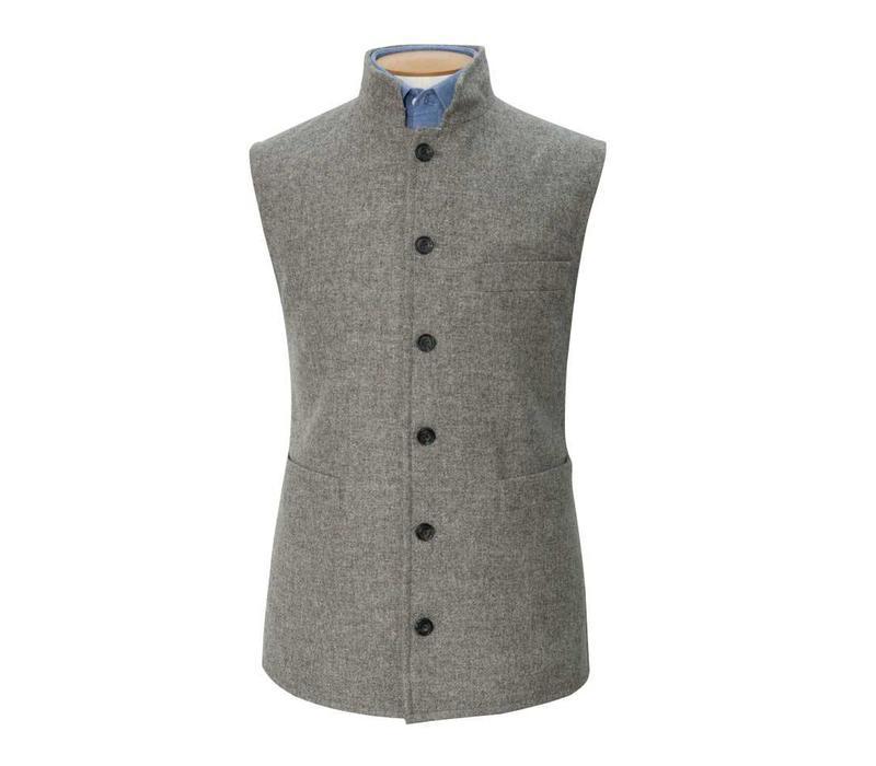 Tweed Gilet, 2018 - Grey