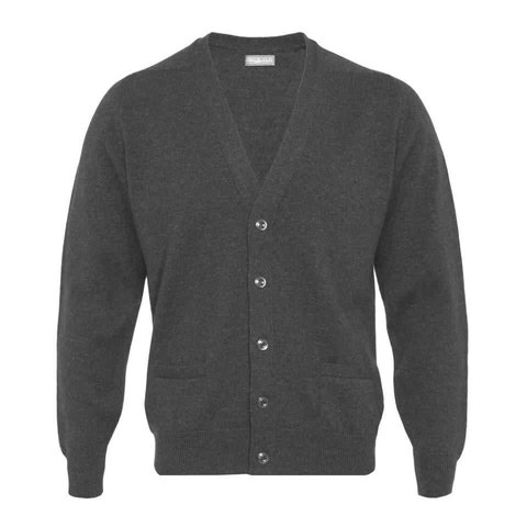 Lambswool Cardigan - Mid Grey