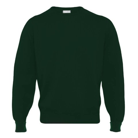 Cashmere Crew Neck Jumpers - Bottle