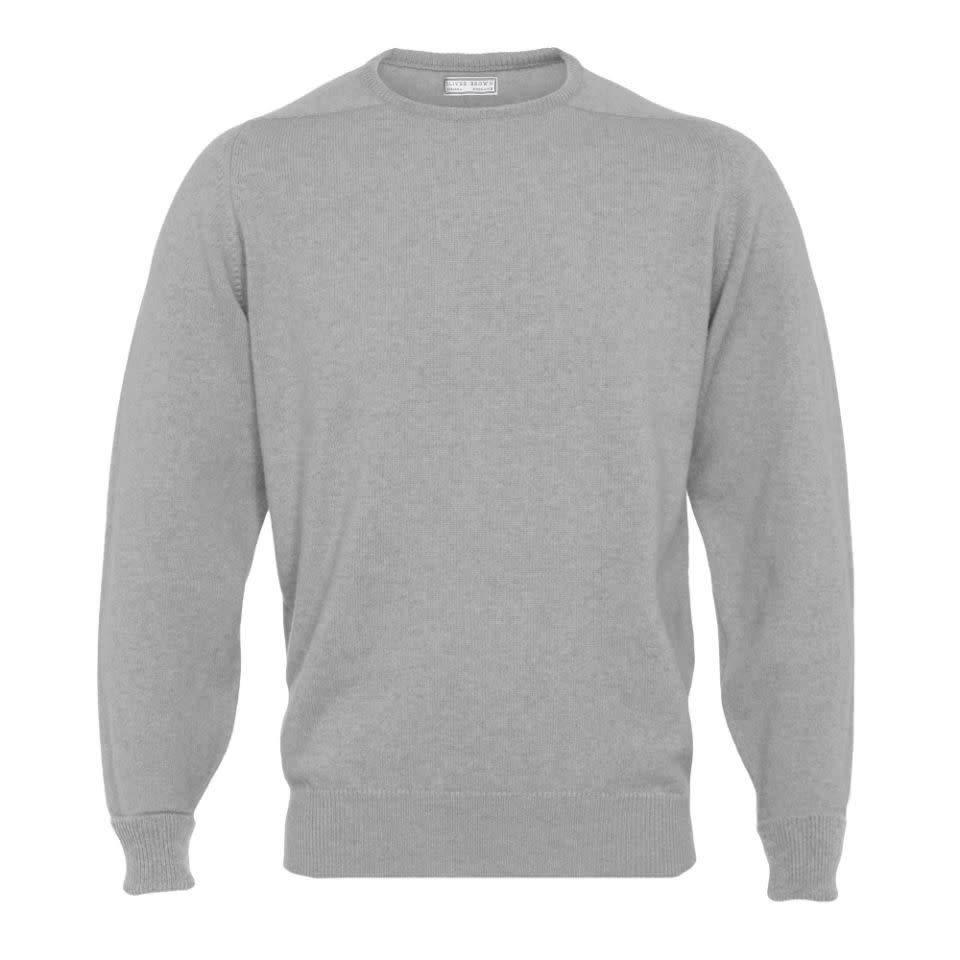 Cashmere Crew Neck Jumpers - Light Grey