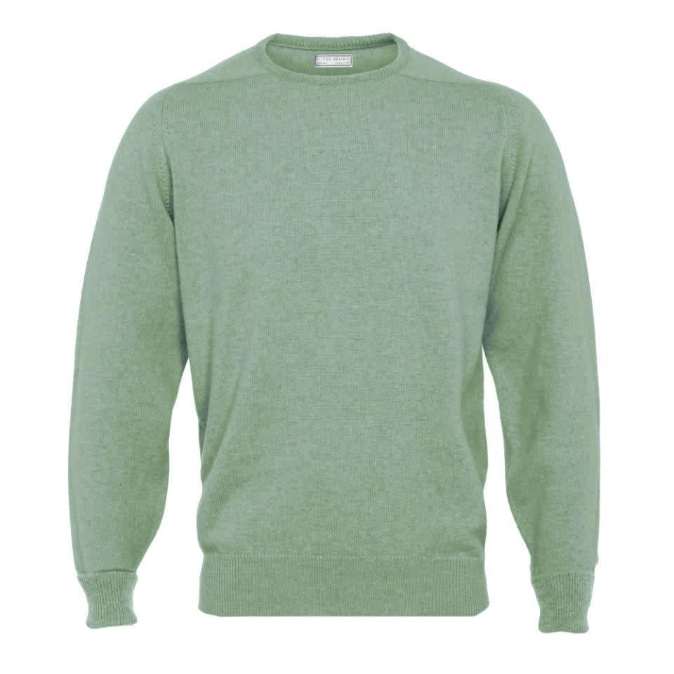 Cashmere Crew Neck Jumpers - Lovat