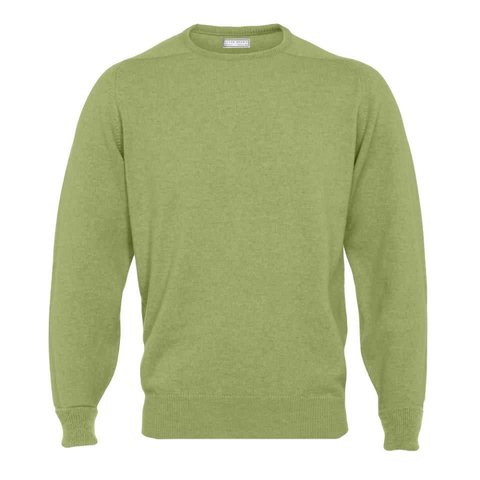 Cashmere Crew Neck Jumpers - Sage