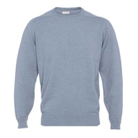 Cashmere Crew Neck Jumpers - Steel Blue