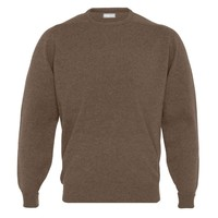 Cashmere Crew Neck Jumpers - Wildebeast