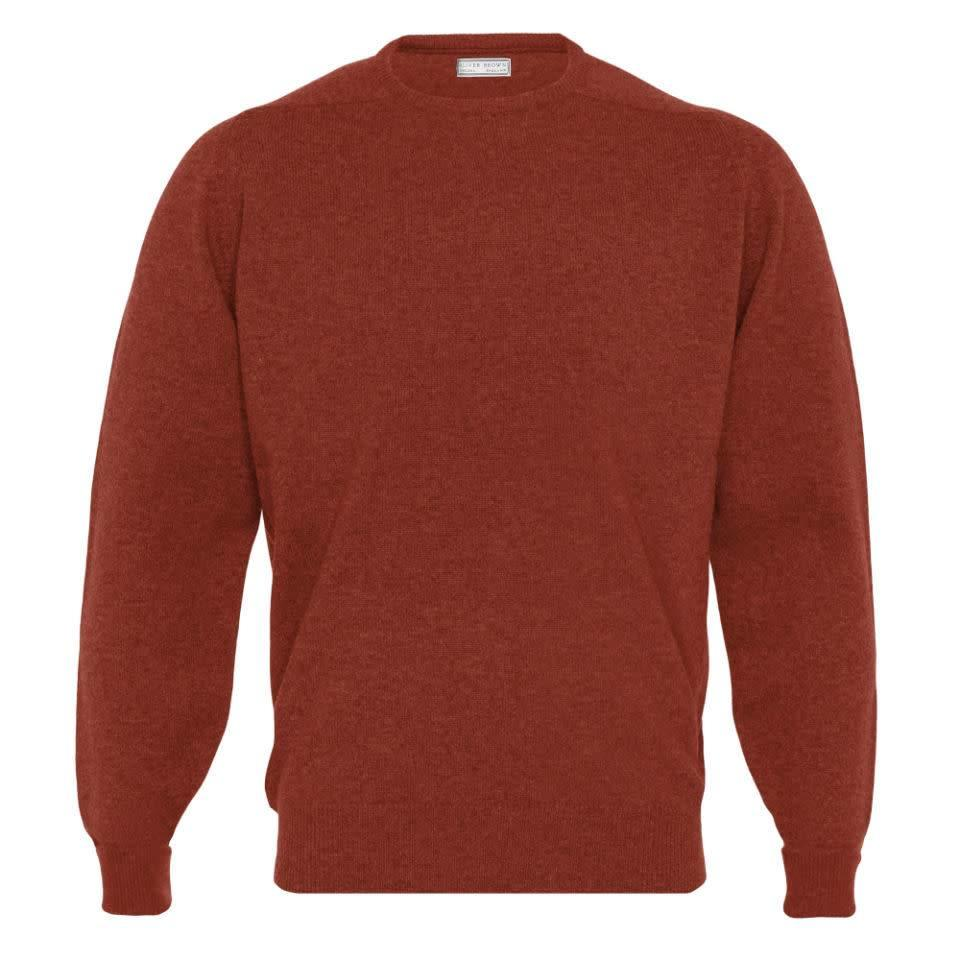 Cashmere Crew Neck Jumpers - Bordeaux
