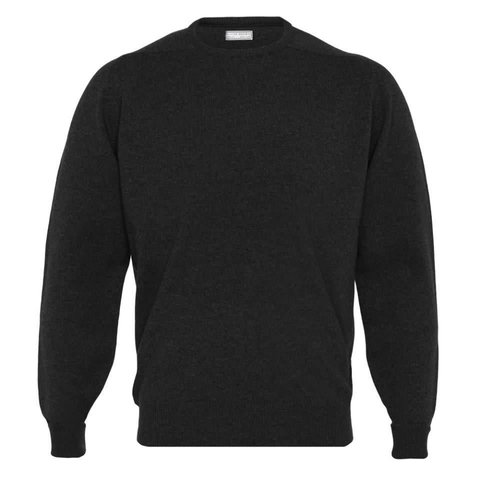 Cashmere Crew Neck Jumpers - Black