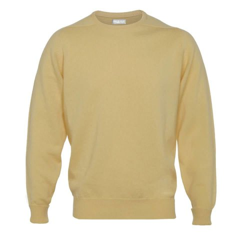 Cashmere Crew Neck Jumpers - Camel