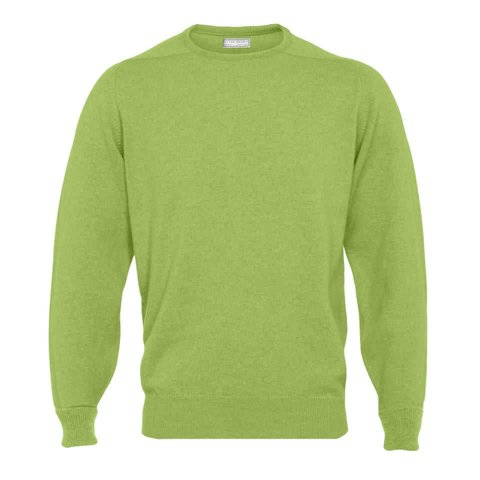 Cashmere Crew Neck Jumpers - Foliage