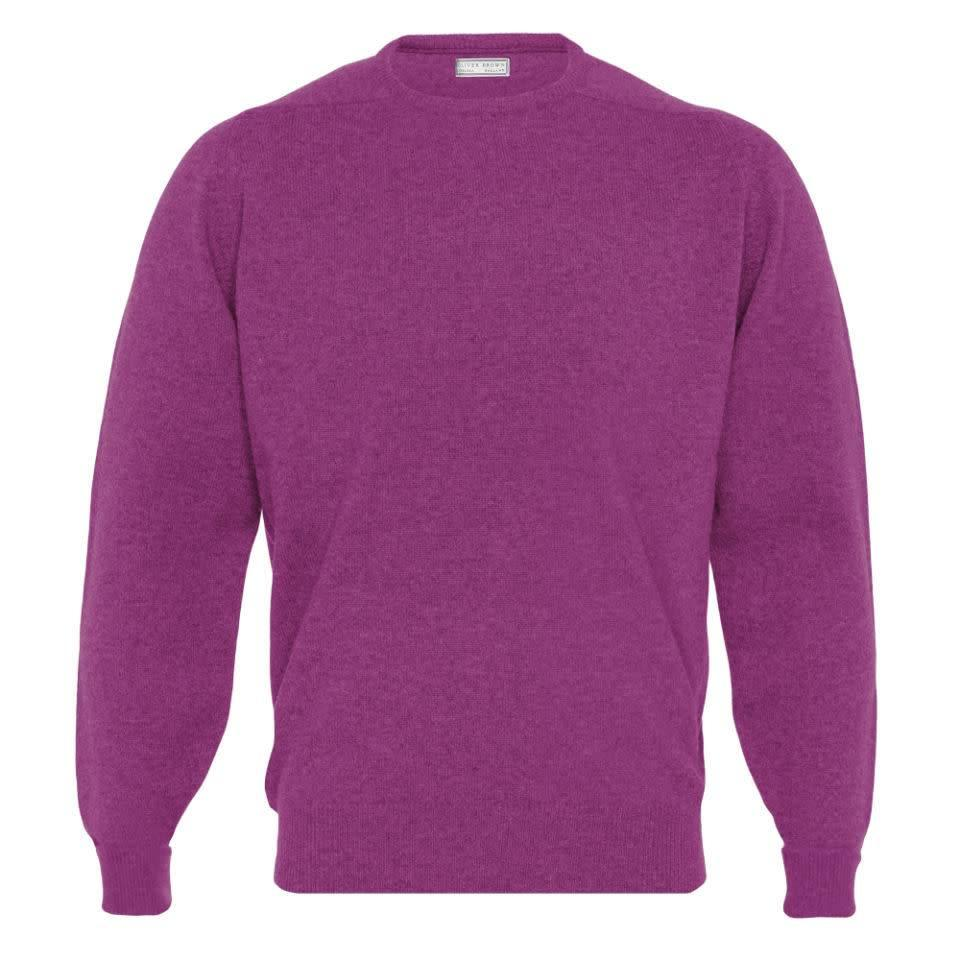 Cashmere Crew Neck Jumpers - Loganberry