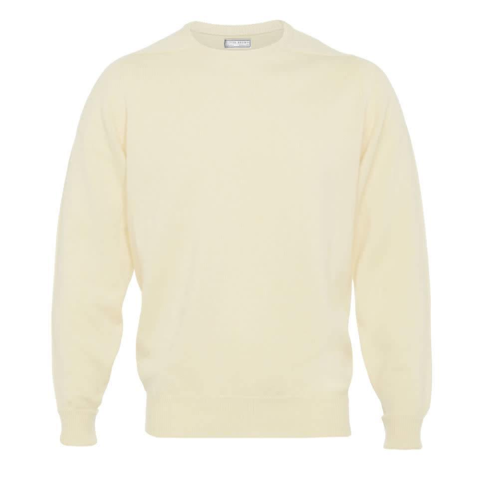 Cashmere Crew Neck Jumpers - Linen