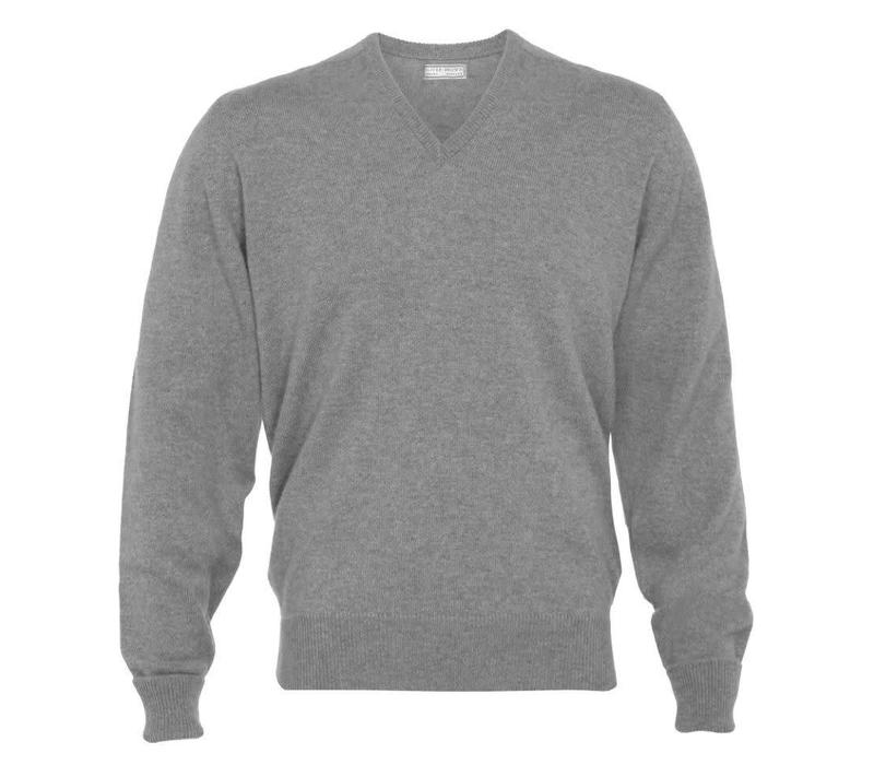 Cashmere V-Neck Jumpers - Flannel