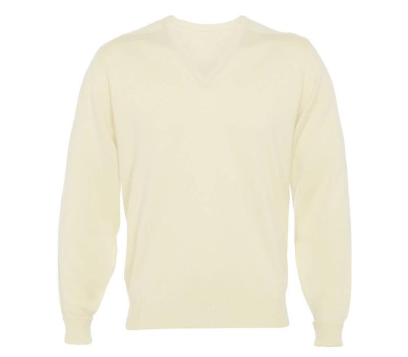 Cashmere V-Neck Jumpers - Linen