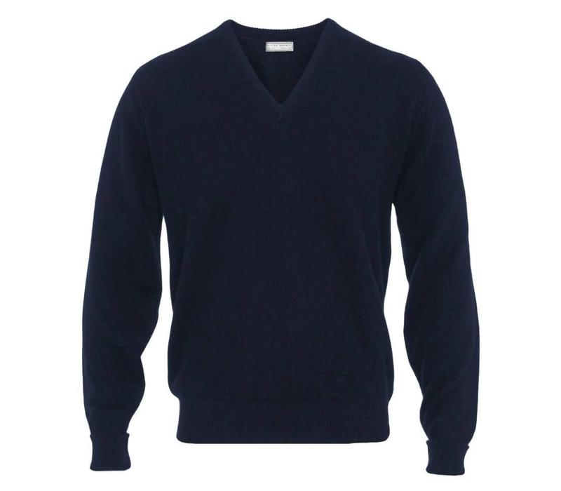 6c6f2cbee82 Cashmere V-Neck Jumpers - Navy