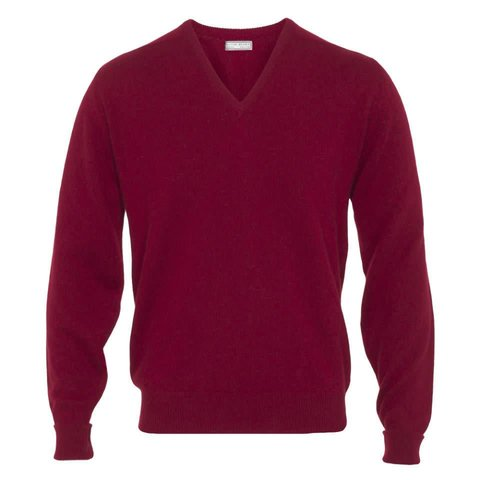 Cashmere V-Neck Jumpers - Poppy