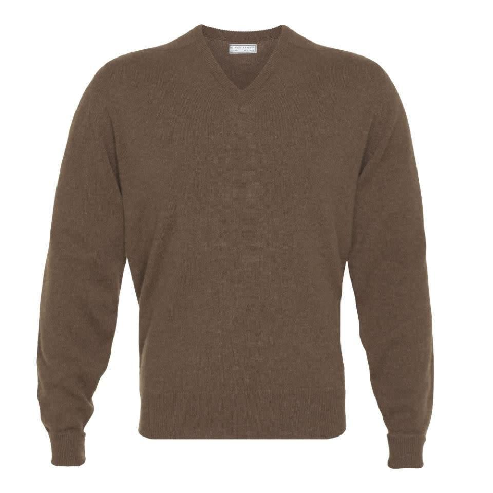 Cashmere V-Neck Jumpers - Wildebeast