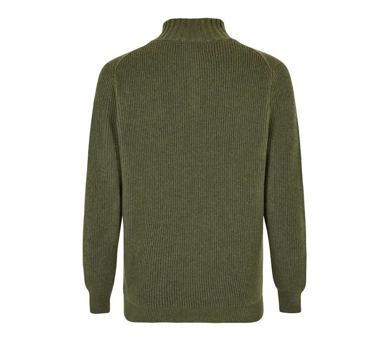 Cashmere Loden Half Zip Shooting Jumper - Green