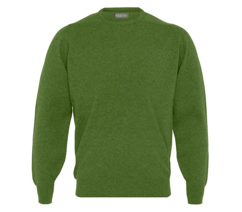 Lambswool Crew Neck Jumper - Watercress