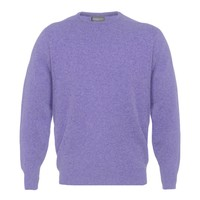 Lambswool Crew Neck Jumper - Lobelia
