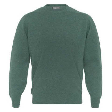 Lambswool Crew Neck Jumper - Lovat