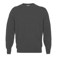 Lambswool Crew Neck Jumper - Mid Grey