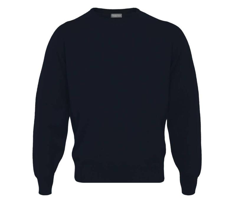 Lambswool Crew Neck Jumper - Navy