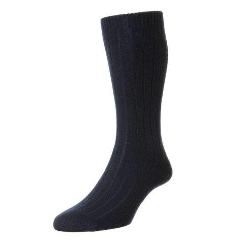 Royal Ascot Cashmere Socks - Navy