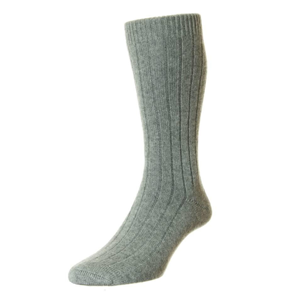 Royal Ascot Cashmere Socks - Flannel grey