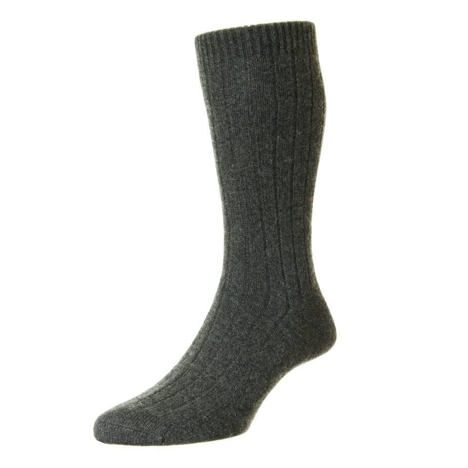 Royal Ascot Cashmere Socks - Charcoal