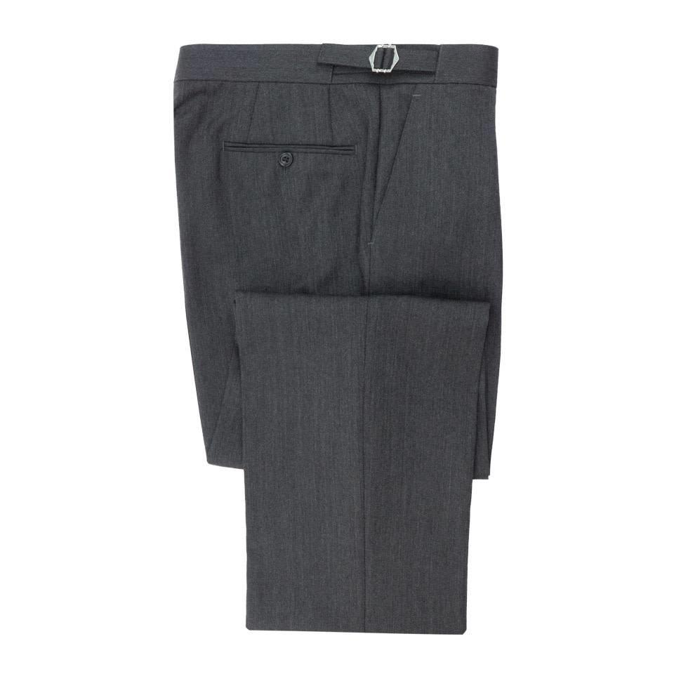City Suit Trousers, Herringbone - Grey