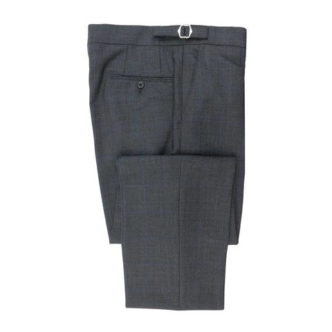 Pleated Suit Trousers - Grey Prince of Wales