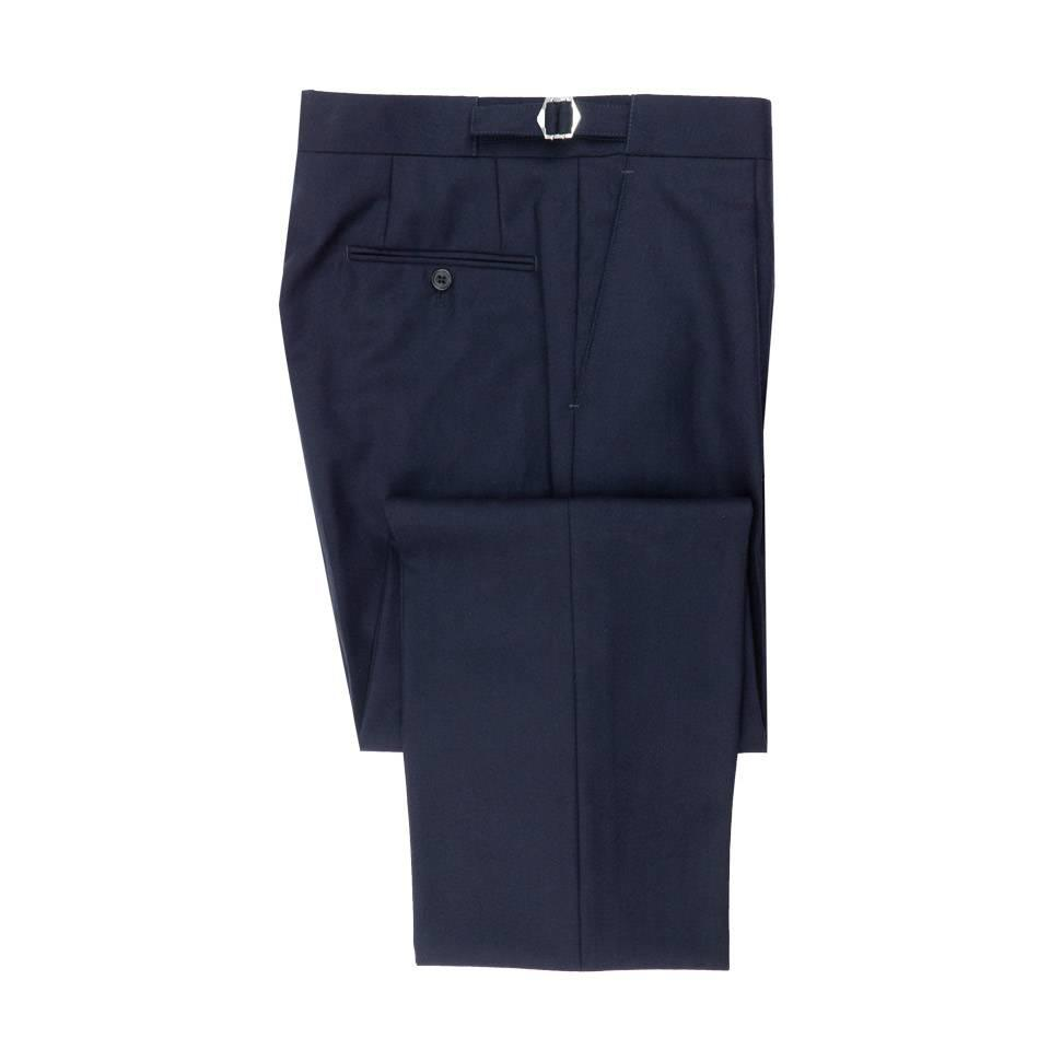 City Suit Trousers, Herringbone - Navy