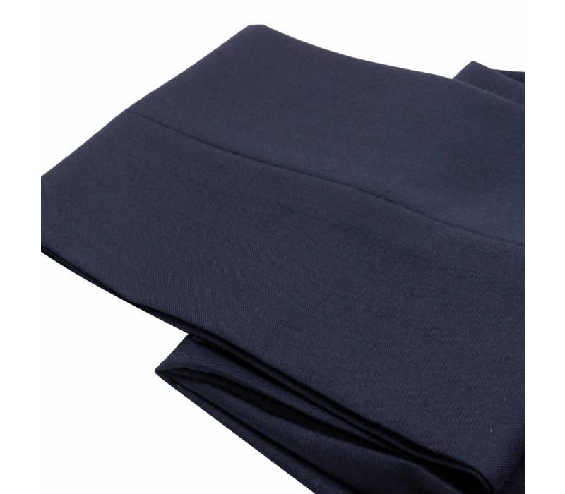 City Suit Trousers, Herringbone - Navy