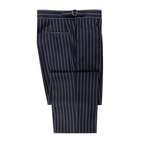 City Suit Trousers, Chalkstripe - Navy