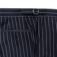 City Suit Trousers, Chalkstripe - Navy