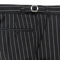 Pleated Suit Trousers - Grey Chalkstripe
