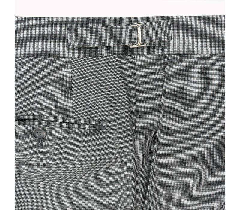 Pleated Suit Trousers- Grey Pick and Pick