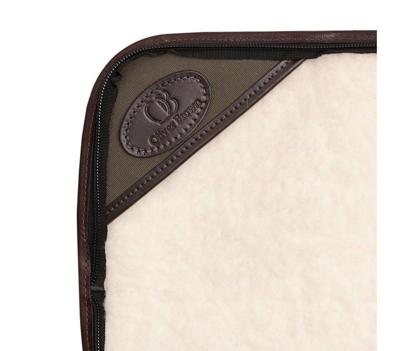 Canvas and Leather Single Gun Slip - Brown