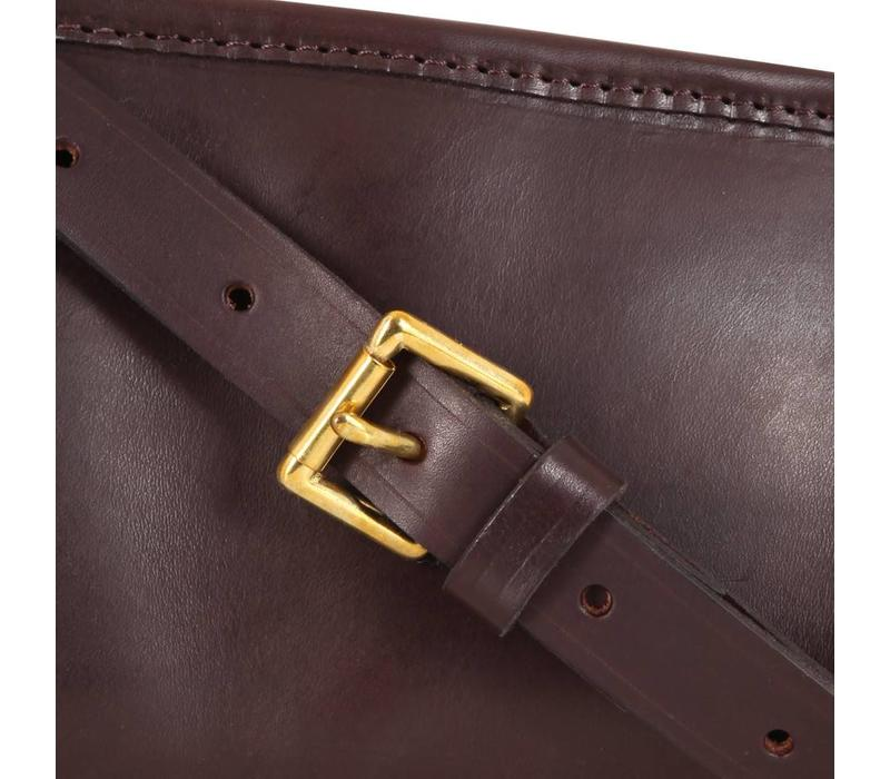 Single Leather Gun Slip, Buckle and Zip Closure