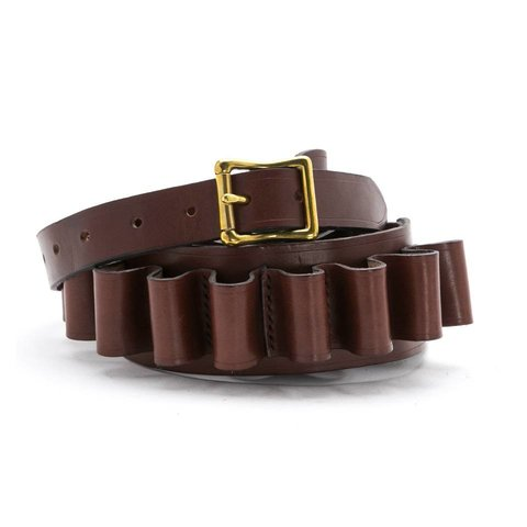 Hand-stitched Leather Cartridge Belt - Tan