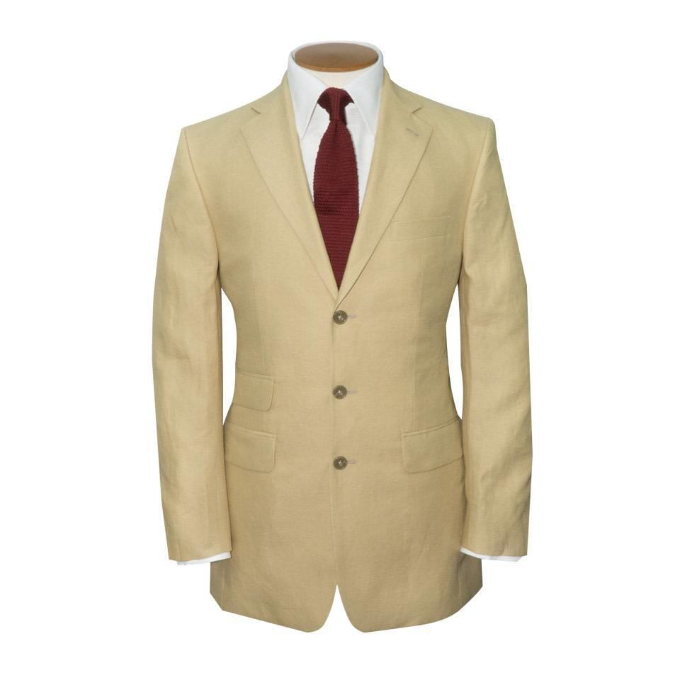 Linen 3 Button Jacket - Sand
