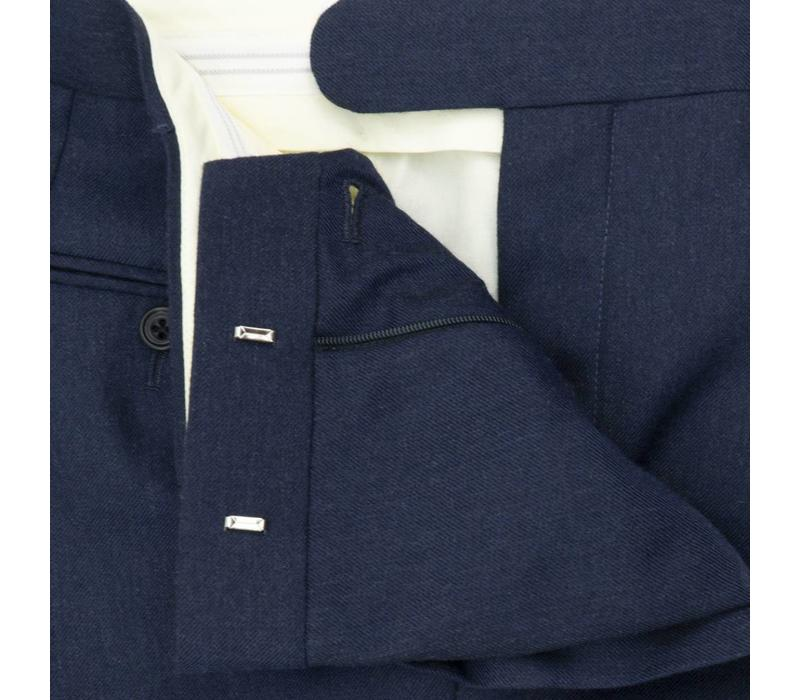 Pleated Suit Navy Cashmere Blend Trousers
