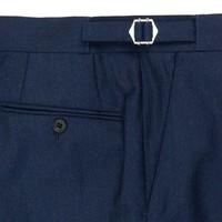 Cashmere Blend Flannel Trouser- Navy