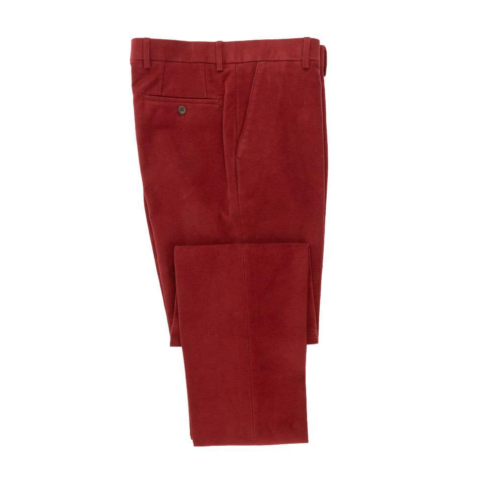 Moleskin Trousers - Red