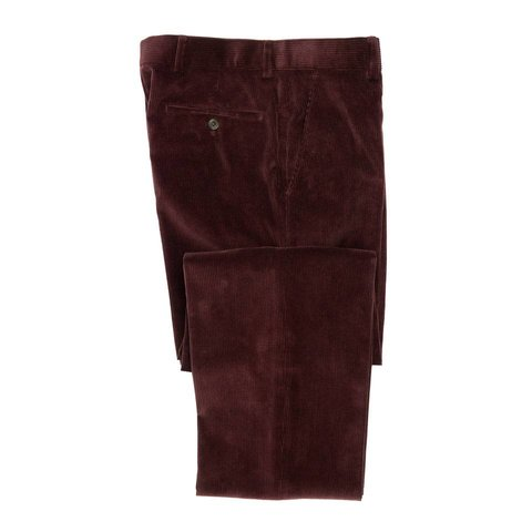 Heavyweight Corduroy Trousers - Burgundy