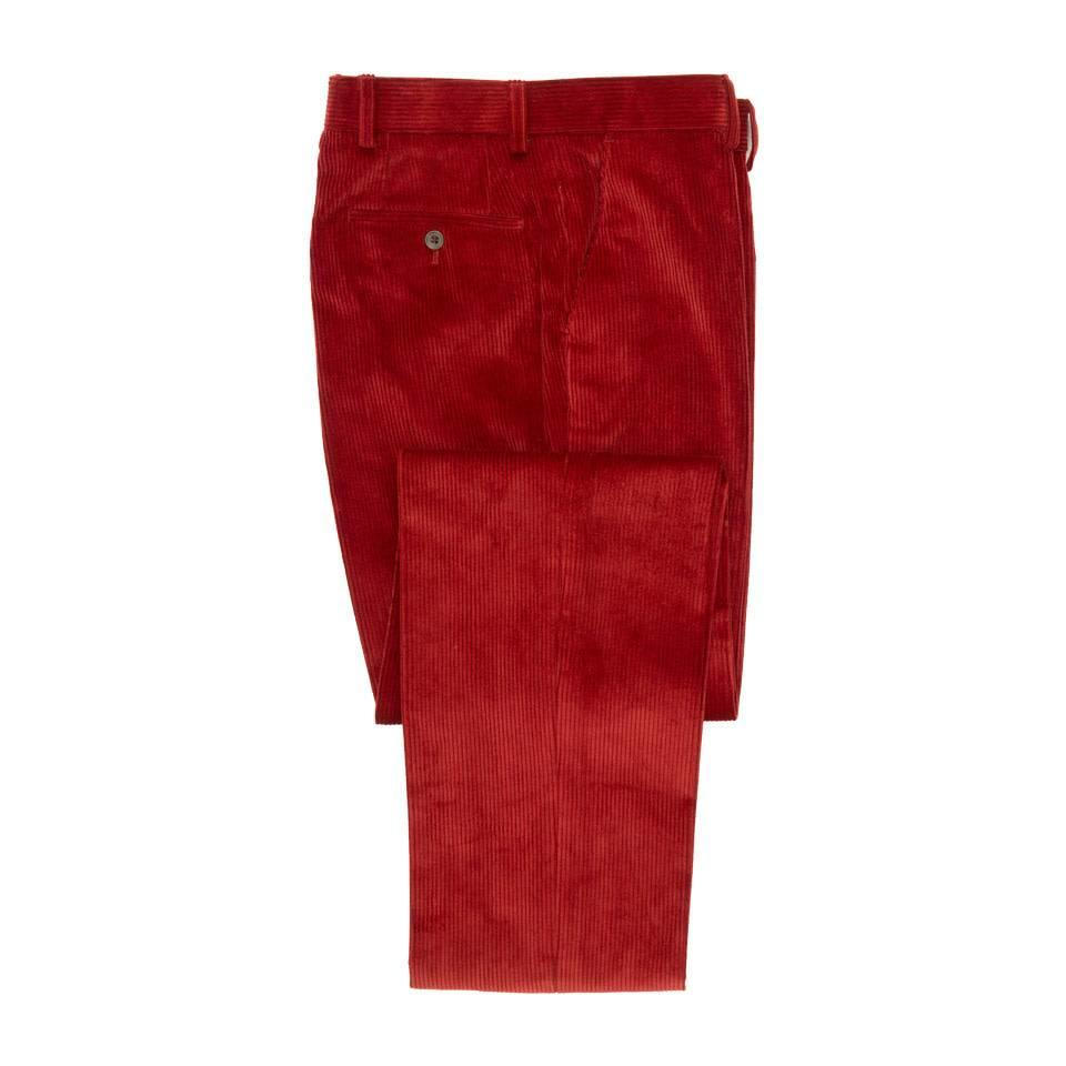 Heavyweight Corduroy Trousers - Red