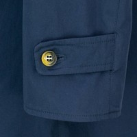 Navy Tweed Reversible Raincoat